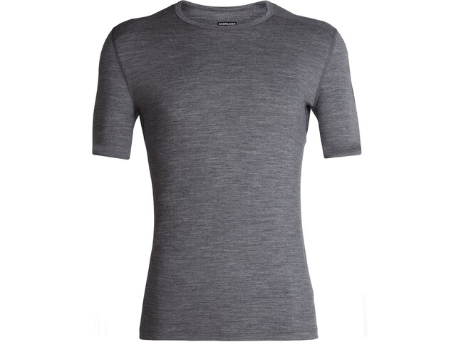 Icebreaker 200 Oasis Crew Top T-shirt Heren, gritstone heather